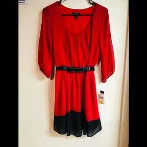 A. BYER  NWT RED AND BLACK DRESS